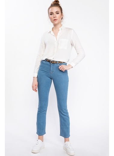 DeFacto Carmela Straight Fit Denim Pantolon Mavi